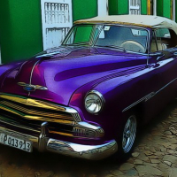 Cuban Vintage Cars Jigsaw
