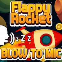 Flappy Rocket Playing with Blowing to Mic