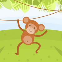 Funny Monkeys Coloring