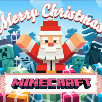MineCraft Christmas Jigsaw  Puzzle